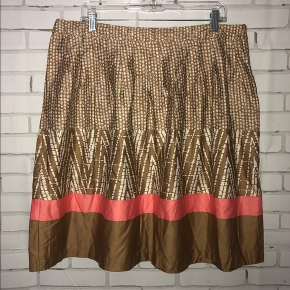 George Dresses & Skirts - NEW tan printed skirt sz 16